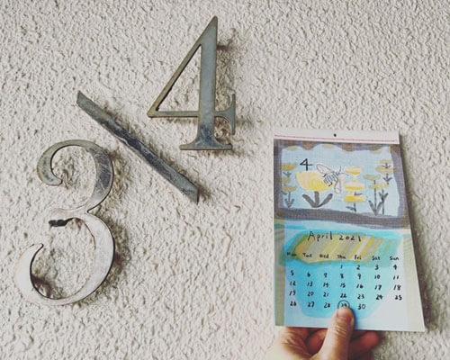 ブルービーのカレンダー