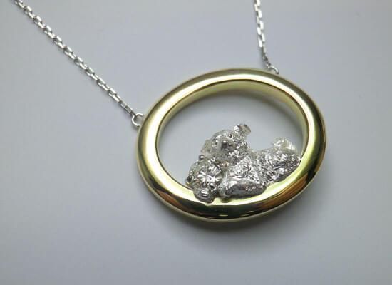 犬のダイヤモンドネックレス