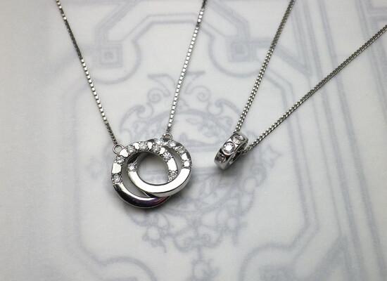 プラチナのダイヤモンドネックレス