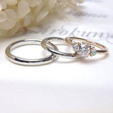 婚約指輪|ルレ オパールの脇石