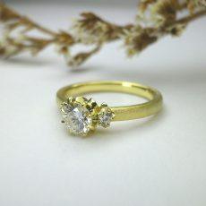 婚約指輪|ルレ マット仕上げ