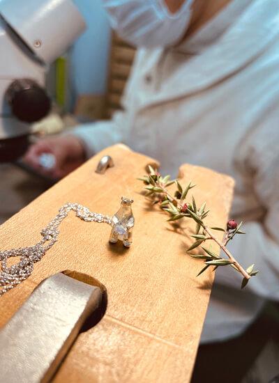 しろくまのモチーフのネックレス