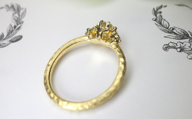 婚約指輪|ルレ 光窓の装飾