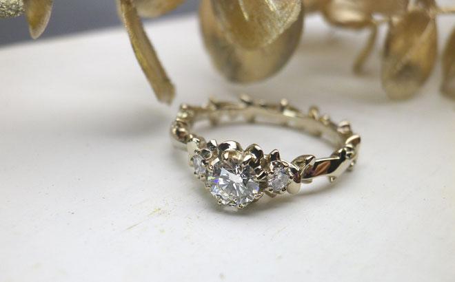 婚約指輪|ルレ シャンパンゴールド