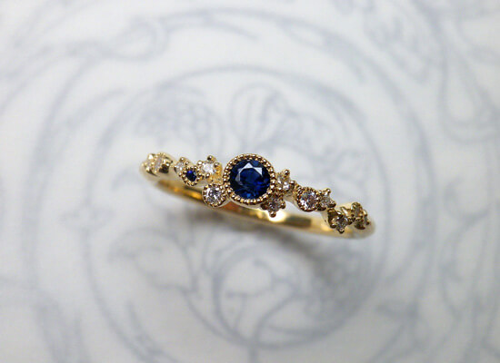 サファイアとダイヤモンドのリングリフォーム