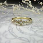 ミル打ちのアンティークな指輪