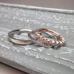 結婚指輪と婚約指輪の組み合わせ