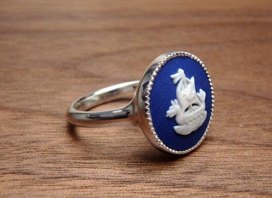 陶器を使った指輪